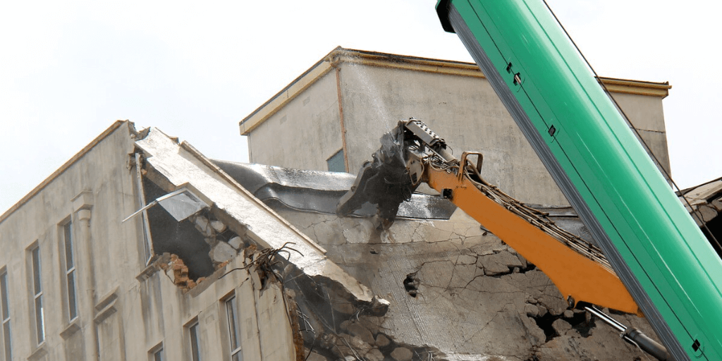 demolition service using the wet wet wet method.