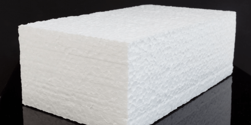 A picture of a block of styrofoam.